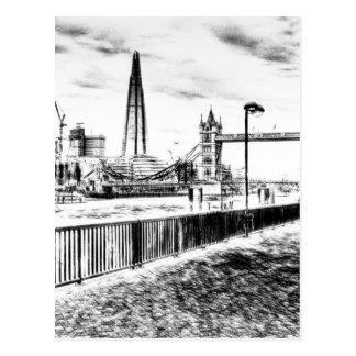 River Thames sketch Postcard