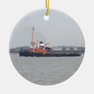 River Thames Tug Ceramic Ornament
