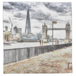 River Thames View Cloth Napkin
