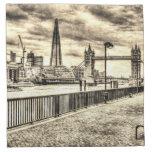 River Thames View Cloth Napkins