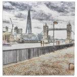 River Thames View Printed Napkin