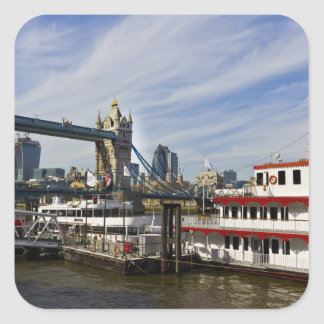 River Thames View Square Sticker