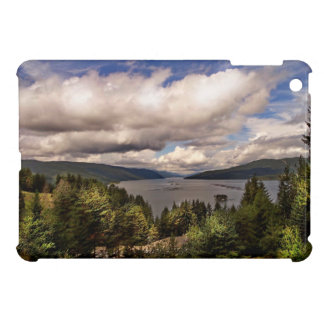 River Themed, Clouds Gathering Over A Hilly Area C iPad Mini Cases