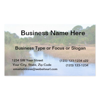 River through marshland savannah swamp picture Double-Sided standard business cards (Pack of 100)