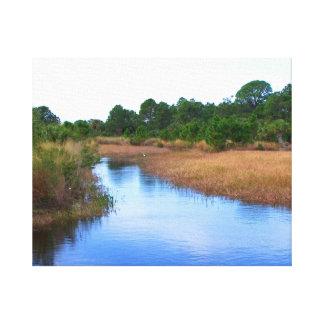 River through marshland savannah swamp picture canvas print