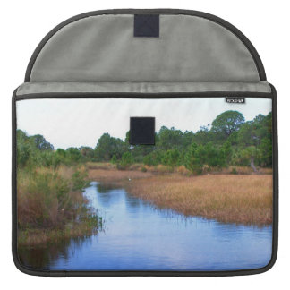 River through marshland savannah swamp picture sleeves for MacBooks