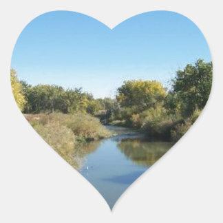River through the Desert Heart Sticker