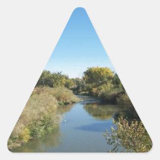 River through the Desert Triangle Sticker