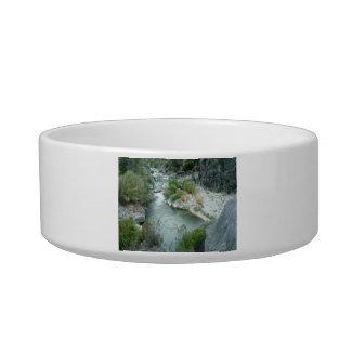 River Through The Mountain Pet Bowl
