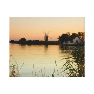 """RIver Thurne at sunset"" canvas prints"