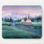 RIVER TIPI CAMP by SHARON SHARPE Mouse Pads