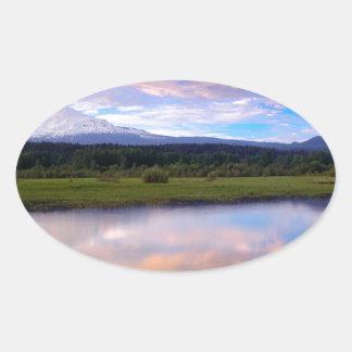 River Trout Lake Mount Adams Oval Sticker