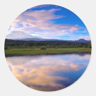 River Trout Lake Mount Adams Round Sticker