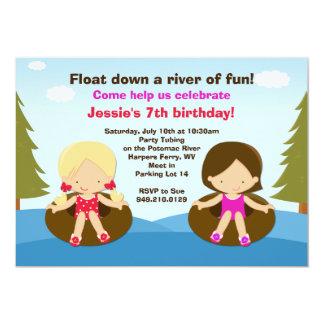 River Tubing Birthday Party Invitation