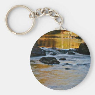 RIVER TURNING INTO LIQUID GOLD KEYCHAIN