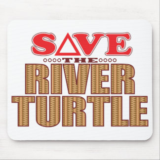 River Turtle Save Mouse Pad