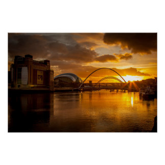 River Tyne at Sunset Poster
