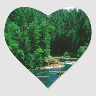 River Umpqua Douglas County Oregon Heart Sticker