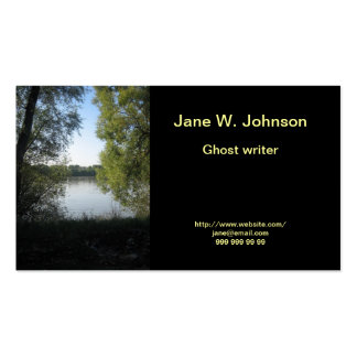 River valley business card template