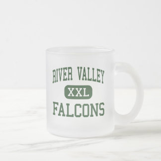 River Valley - Falcons - High - Yuba City Frosted Glass Coffee Mug