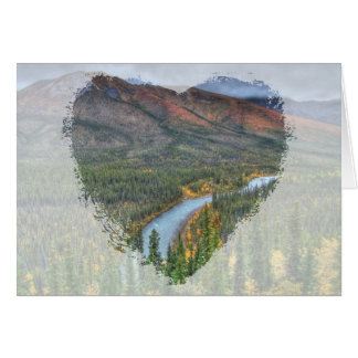 River Valley Illusion Greeting Card