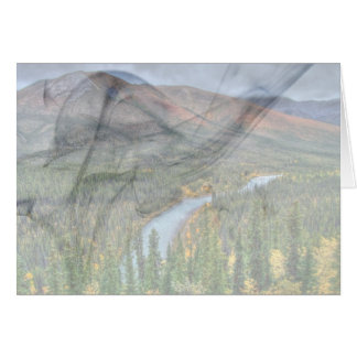 River Valley Illusion; Customizable Greeting Card