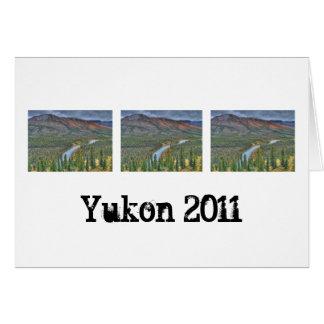 River Valley Illusion; Yukon Territory Souvenir Greeting Card