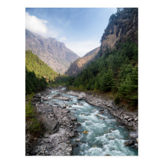 River Valley in Himalaya Mountain Forest Landscape Postcard