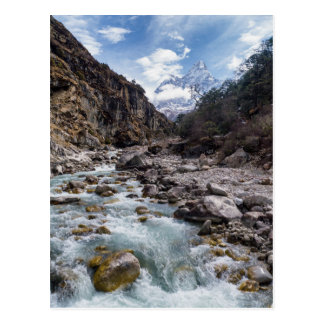 River Valley in Himalayan Mountain Landscape Postcard