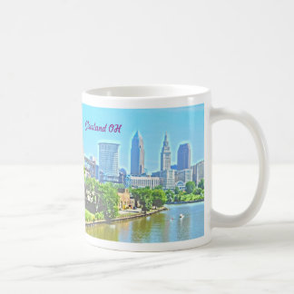 River View Cleveland Ohio (Paint Effect) Mug