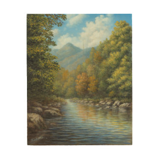 River View - Smoky Mountains Wood Wall Art