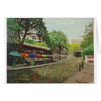 River Walk San Antonio, TX Painting Card
