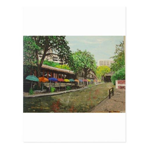 River Walk San Antonio, TX Painting Postcard