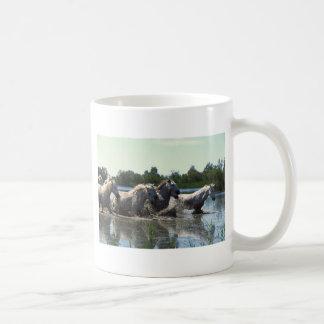 River Walking Horses Classic White Coffee Mug