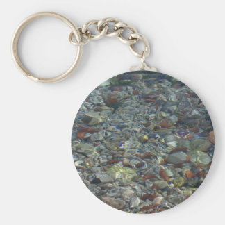 River Water and Rock Reflections Keychain
