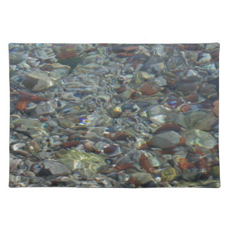 River Water and Rock Reflections Place Mat