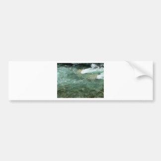 River water flowing bumper sticker