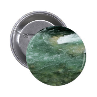 River water flowing pinback button