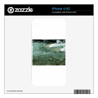 River water flowing decal for iPhone 4