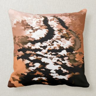 RIVER WATER THROW PILLOW