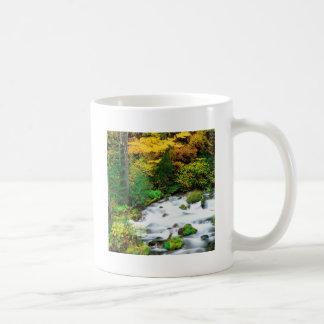 River Willamette Forest In Autumn Oregon Mugs