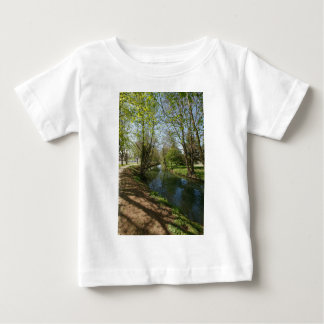River with trees in spring baby T-Shirt