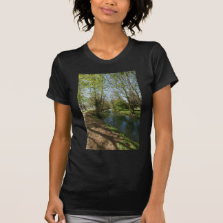 River with trees in spring tshirts