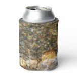 River-Worn Pebbles Brown and Grey Natural Abstract Can Cooler