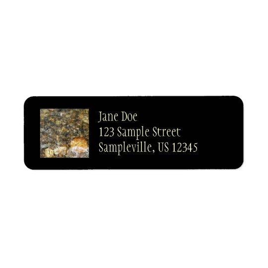 River-Worn Pebbles Brown and Grey Natural Abstract Label
