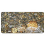 River-Worn Pebbles Brown and Grey Natural Abstract License Plate