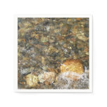 River-Worn Pebbles Brown and Grey Natural Abstract Napkin