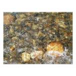 River-Worn Pebbles Brown and Grey Natural Abstract Photo Print