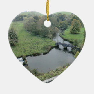 River Wye at Haddon Hall Ceramic Ornament