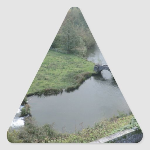 River Wye at Haddon Hall Triangle Stickers